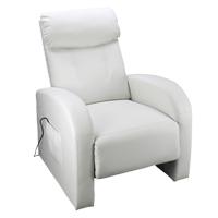 a37178c92064 Luxusné relaxačné a masážne kreslo Toledo bielej
